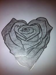 heart and flowers tattoo roses and heart drawing free download clip art free clip art