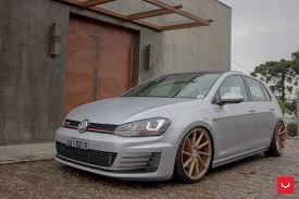 volkswagen gti modified bronze cvt vossen rims adorning modified vw golf u2014 carid com gallery