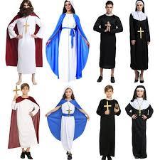 Jesus Costume Boys Girls Adults Priest Sister Jesus Clergyman Virgin Mary