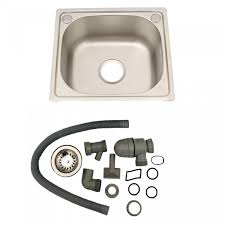 Brushed Stainless Steel Top Mount Kitchen Bowl Sink Includes - Kitchen bowl sink