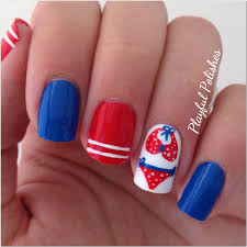 playful polishes 4th of july nail art