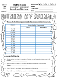 rounding with decimals worksheet ks2 rounding decimals to tenth and hundredth by jinkydabon
