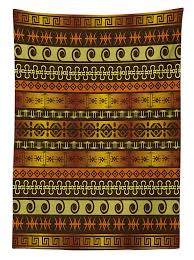 Good Valance Motifs Amazon Com Primitive Decor Tablecloth By Ambesonne African