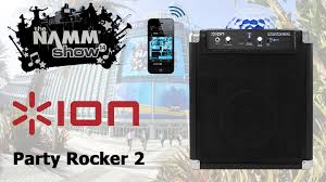 ion portable speaker system with party lights ion party rocker 2 wireless speaker system party lights first look
