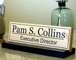 desk name plate personalized desk sign solid granite name