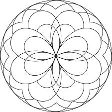 easy coloring pages the sun flower pages