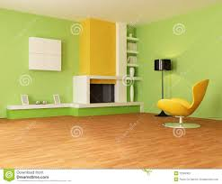 green living room with modern fireplace stock images image 10352474