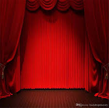 2018 10x10ft red curtain stage party backdrops vinyl photography studio backgrounds dark brown floor photo booth backdrop for weddings from backdropsfactory