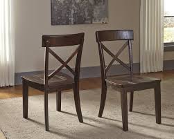 Ashley Dining Room Chairs Solid Pine Dining Room Side Chair With X Back By Signature Design