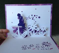 Free Kirigami Card Templates Blowing Bubbles Pop Up Card Template From
