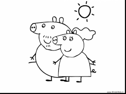 spectacular peppa pig coloring pages with peppa pig coloring page