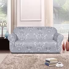 stretch sofa slipcover 2 piece subrtex 1 piece spandex printed fit stretch sofa slipcovers