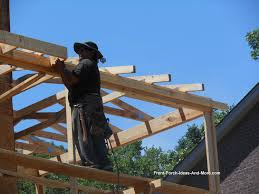 building a porch roof porch roof framing