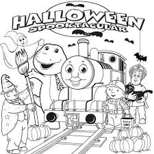 halloween thomas train coloring pages print hallowen