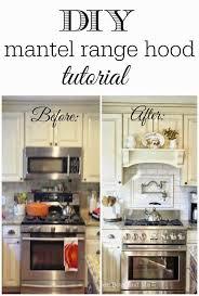 microwave with extractor fan diy mantel hood tutorial diy mantel mantel shelf and mantels