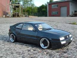 volkswagen corrado tuning volkswagen corrado vr6 wheels big offset revell diecast model car