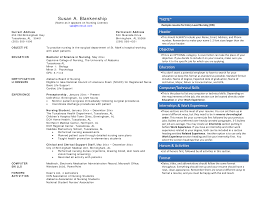 Registered Nurse Resume Samples Free by Registered Nurse Resume Sample