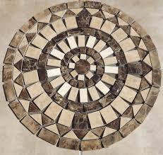mosaic marble and travertine medallion 24 inch sj granite floor