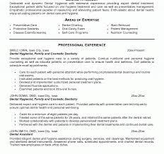 Dental Hygienist Resume Samples by Tremendous Dental Hygiene Resumes 2 Hygienist Resume Resume Example