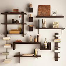 creative idea stunning brown wood modular floating shelves