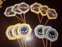 harley davidson cupcake toppers made by me baking techniques