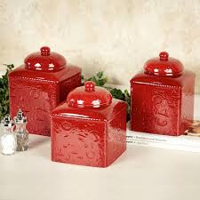 red ceramic kitchen canisters awesome furniture charming kitchen