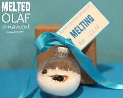 melted olaf ornament diy club chica circle where crafty is