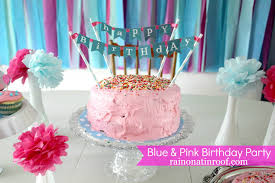 decoration ideas for birthday at home a stylish blue and pink birthday party