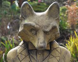 tremendous fox garden statue amazing decoration garden ornaments