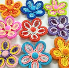 tutorial quilling flower three layers tiny loops quilling flower tutorial