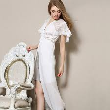 nightgowns for brides bridesmaid robes satin nightgowns women v neck lace