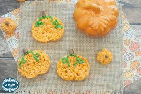 rice crispy treat pumpkins pumpkin rice krispie treats recipe for fall and