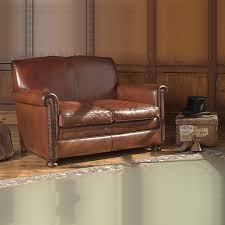 Charles Leather Sofa SMALL - Small leather sofas for small rooms