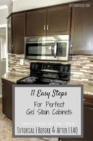 stain over polyurethane restaining cabinets cost staining oak