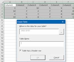 convert the table to a normal range excel working with tables