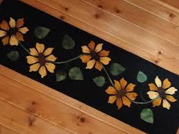 thanksgiving table runner pattern applique table runners sunflower wool applique table runner