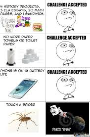 Challenge Accepted Memes - challenge accepted rage by thewiredness meme center