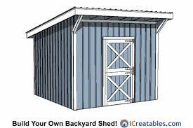 Diy Lean To Storage Shed Plans by 12x12 Shed Plans Build Your Own Storage Lean To Or Garage Shed