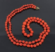 bead necklace ebay images Antique natural untreated oxblood red coral barrel bead necklace jpg