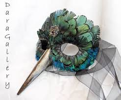 peacock masquerade masks hummingbird mask made to order paper mache and feather