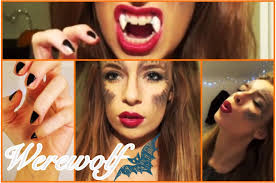 halloween tutorial werewolf hair makeup nails u0026 ideas