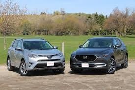 mazda big car 2017 toyota rav4 vs 2017 mazda cx 5 comparison autoguide com news
