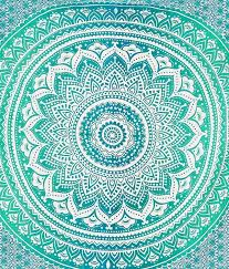 Seafoam Green Wallpaper by Amazon Com Rawyalcrafts Green Ombre Tapestry Indian Hippie