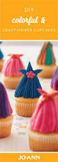 how to make a colorful and crazy haired cupcake cake decorating