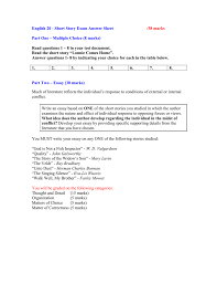alberta short story unit unit exam answer sheet doc
