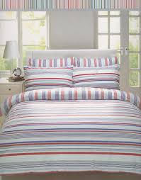 super king size striped duvet cover set de cama ando blue