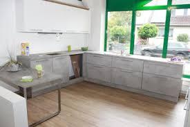 k che ausstellungsst ck nolte küche beton weiß ausstellungsstück inkl haube in