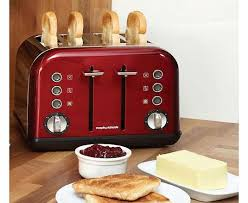 Morphy Richards Accents Red 4 Slice Toaster Stainless Steel 4 Slice Toaster