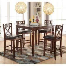 coaster stapleton 5 piece counter height dining table set hayneedle