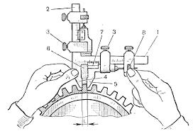 8 gear tooth vernier caliper m5 36 zahnweitenmessschieber zahnmeß